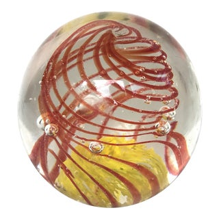 Vintage Glass Paperweight For Sale