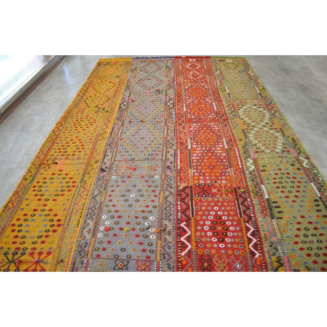 1930s Antique Hand-Woven Turkish Rug Rare Fantastic Piece- 7′ X 11′2″ For Sale - Image 5 of 11