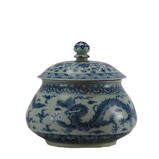 Chinese Blue and White Ginger Jar For Sale