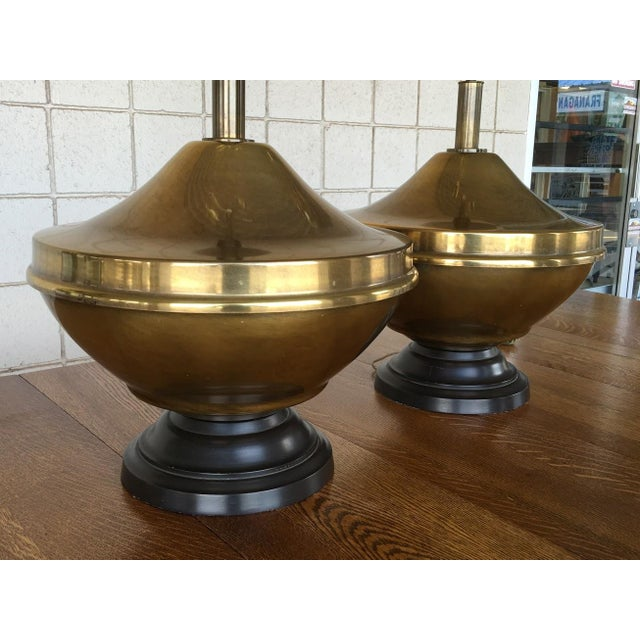 Vintage Brass Oversized Lamps - Pair For Sale In Phoenix - Image 6 of 6