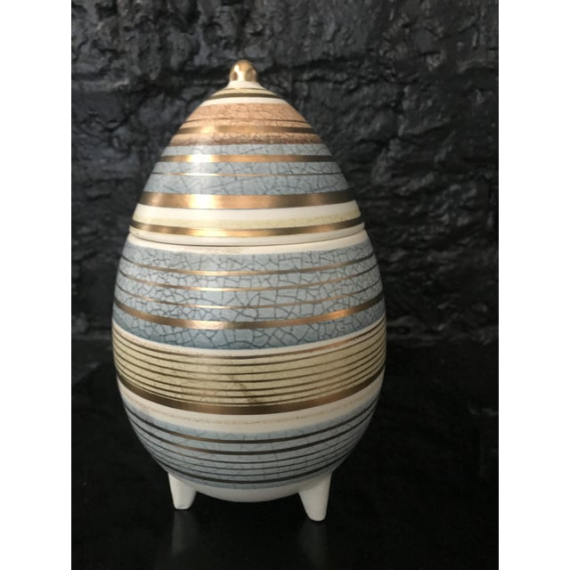 Mid Century Sascha Brastoff Abstract Series Stripe Egg Jar Signed For Sale - Image 11 of 11
