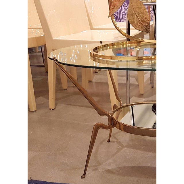 1950s 1950s Italy Mid-Century Modern Brass / Glass Coffee Table by Cesare Lacca For Sale - Image 5 of 6