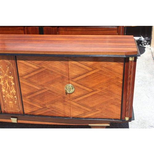 Monumental French Art Deco Palisander By Jules Leleu Sideboard / Buffet ,Circa 1940s - Image 7 of 10