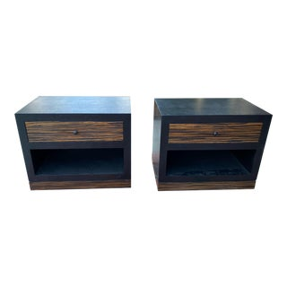 1990s Ldc Design Studio Two-Tone Side Tables For Sale