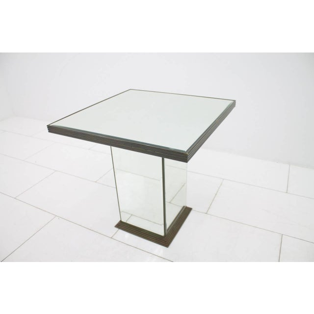 White Fully Mirrored Side or End Table, France, 1970s For Sale - Image 8 of 8