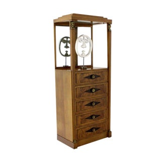 Empire Vitrine Light Up Display Cabinet or Chest of Drawers For Sale