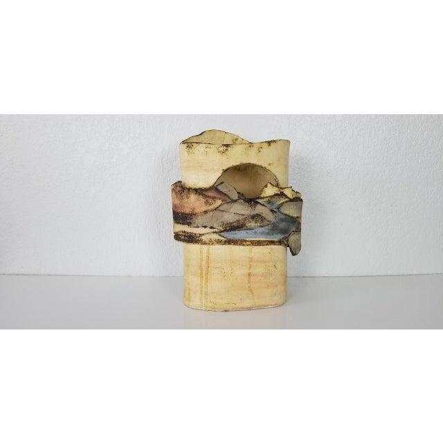 1985 Vintage Art Pottery With Landscape Motif, Signed For Sale - Image 11 of 11
