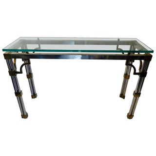 Mid Century Modern Mixed Metal Console For Sale
