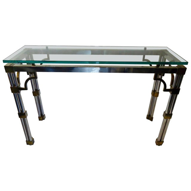Mid Century Modern Mixed Metal Console - Image 1 of 5