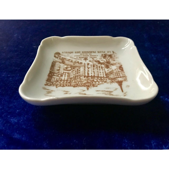 Vintage Hotel George V Bonbon Pillivuyt Ceramic Trinket Soap Dish For Sale - Image 4 of 8