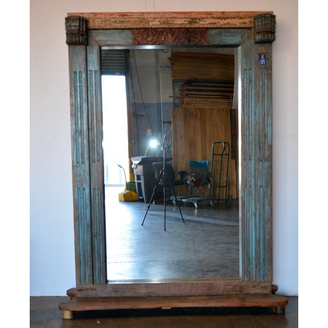 Antique Wood Carved Mirror For Sale - Image 11 of 11