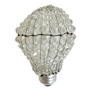 Antique Cut Crystal Light Bulb Cover For Sale