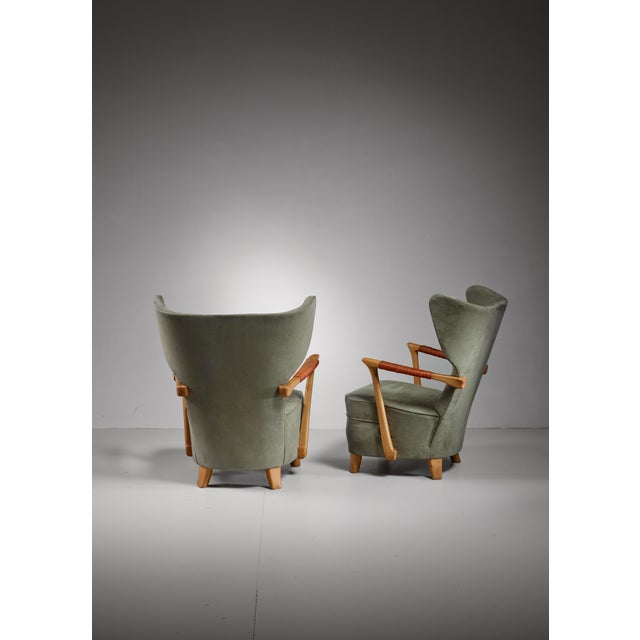 Runar Engblom pair of lounge chairs, Finland, 1940s For Sale - Image 4 of 7