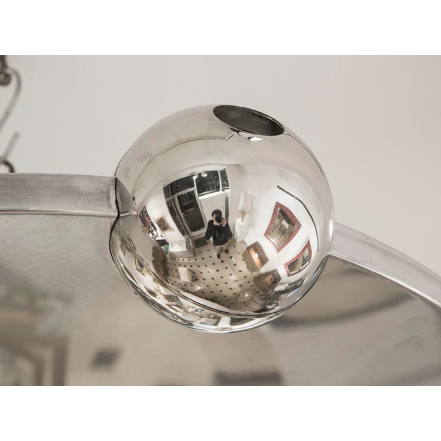 "1960s Yonel Lebovici - Ceiling Light Model ""Soucoupe"", Steel, Circa 1969 For Sale - Image 5 of 7"