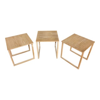 Kai Kristiansen Set of 3 Nesting Tables Made by Vildbjerg Møbelfabrik - Made in Denmark For Sale