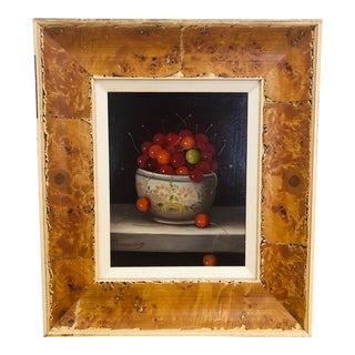 Cherry Still Life Oil Painting For Sale