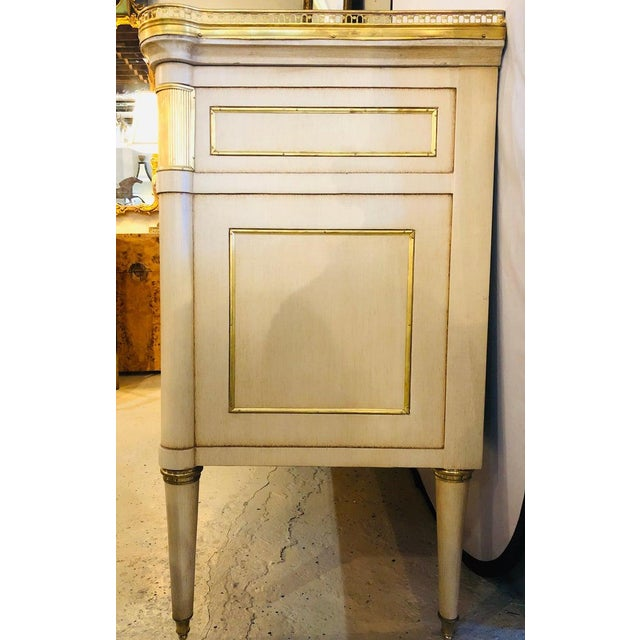 Metal Maison Jansen Style Hollywood Regency Commodes, Dressers, Nightstands, a Pair For Sale - Image 7 of 13