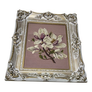 Vintage Mid-Century Victorian Style Picture Frame For Sale