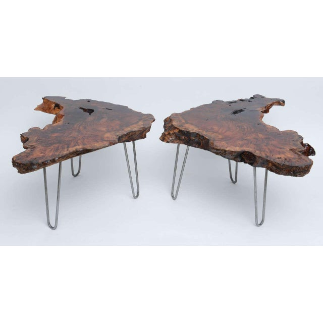 Contemporary Gorgeous Redwood Tables For Sale - Image 3 of 10