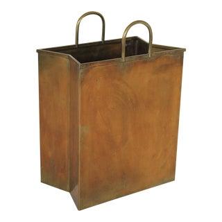 Italian Brass Shopping Bag For Sale