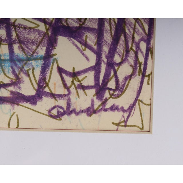 Paul Chidlaw Signed Mixed Media Abstract Drawing For Sale - Image 4 of 8
