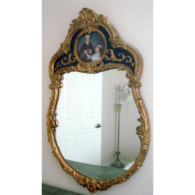 WELCOME AND THANK YOU FOR TAKING THE TIME TO LOOK!! Absolutely gorgeous, Stunning French style hand painted wood mirror in...