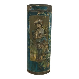 Antique Van Derveer & Holmes Ginger Wafer Biscuit Tin