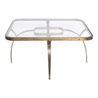 Mid Century Mexican Modernist Side Coffee Table Arturo Pani Sculptural Bronze For Sale