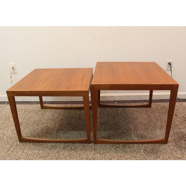 Danish Modern George Tanier Teak End Tables - Pair - Image 9 of 10