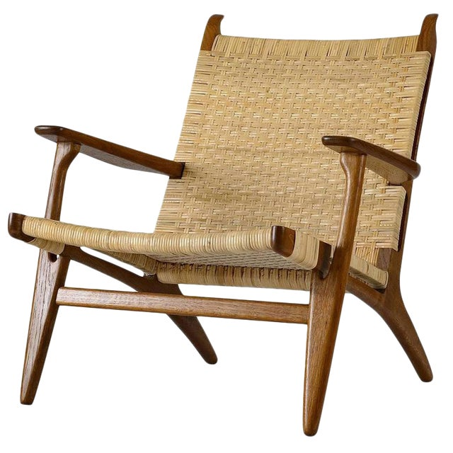 Hans Wegner CH-27 Lounge Chair For Sale