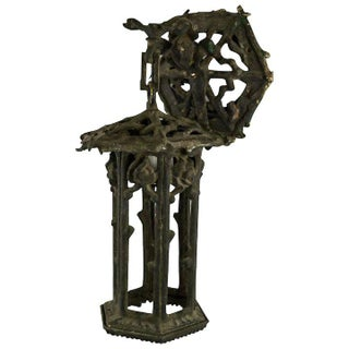1920's American Cast Iron Garden Lantern For Sale