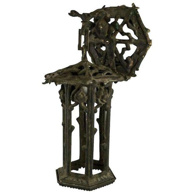 1920's American Cast Iron Garden Lantern For Sale