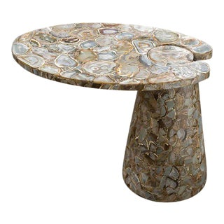 Global Views' Natural Agate Cone Cantilever Table