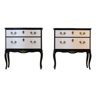 Pair of Rococo Bedside Commodes/Tables (DaVinci Collection) For Sale