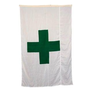 Vintage Green Cross Flag