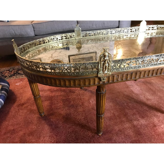Mid-Century Modern French Plateau Coffee Table - Image 7 of 9