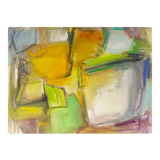 """""""Amber Fields"""" by Trixie Pitts Large AbstractOil Painting For Sale"""