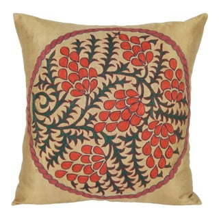 Suzani Fragment Pillow 18'' For Sale