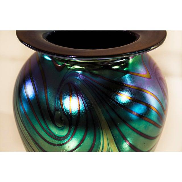 Eickholt Glass Pulled Feather Vase - Image 3 of 6