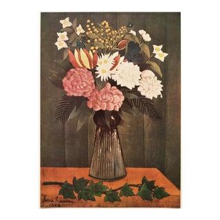 "1951 Henri Rousseau ""Flowers"", First Edition Vintage Photogravure For Sale"
