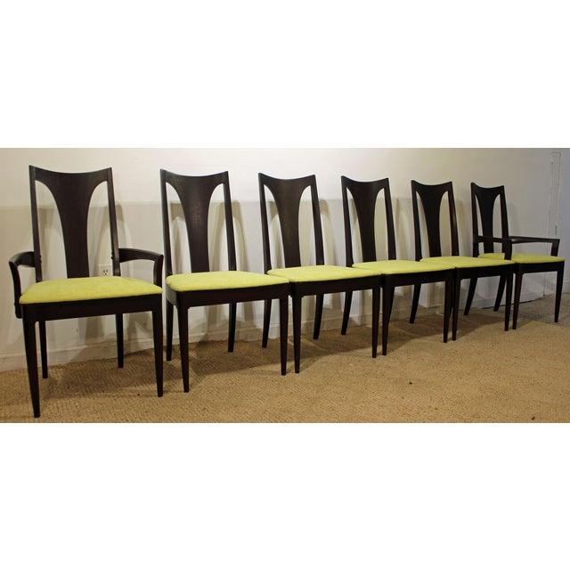 Mid-Century Danish Modern Brasilia Dark Walnut Dining Chairs #5 - Set of 6 For Sale - Image 11 of 11