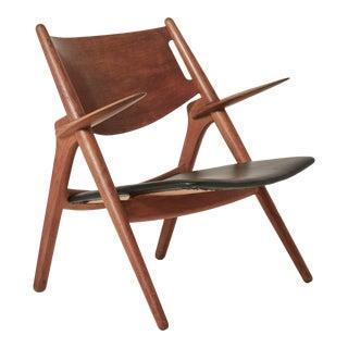 1950s Vintage Hans Wegner Ch28 Sawbuck Armchair