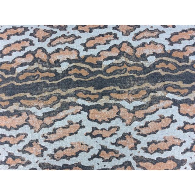 Textile Tan Linen Rectangular Ottoman For Sale - Image 7 of 8