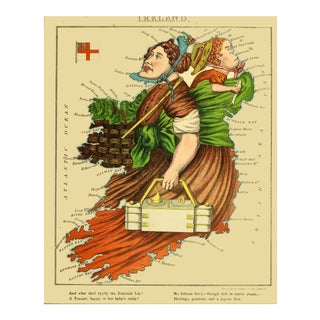1869 Geographic Fun: Ireland as a Farmer For Sale