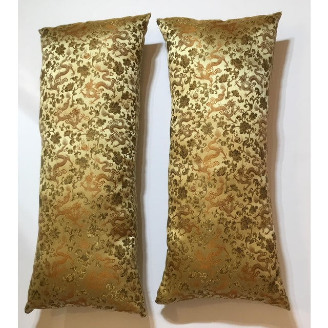 Chinese Silk Pillows - A Pair - Image 11 of 12