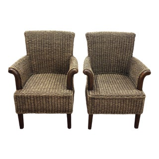 Woven Rope Side Chairs - A Pair For Sale