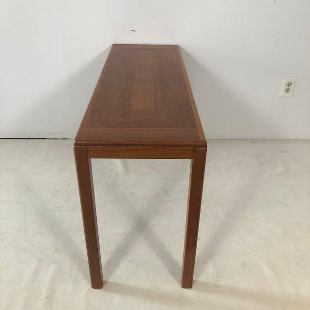 Mid-Century Modern 1970s Laurits M Larsen Danish Teak Console Table For Sale - Image 3 of 5