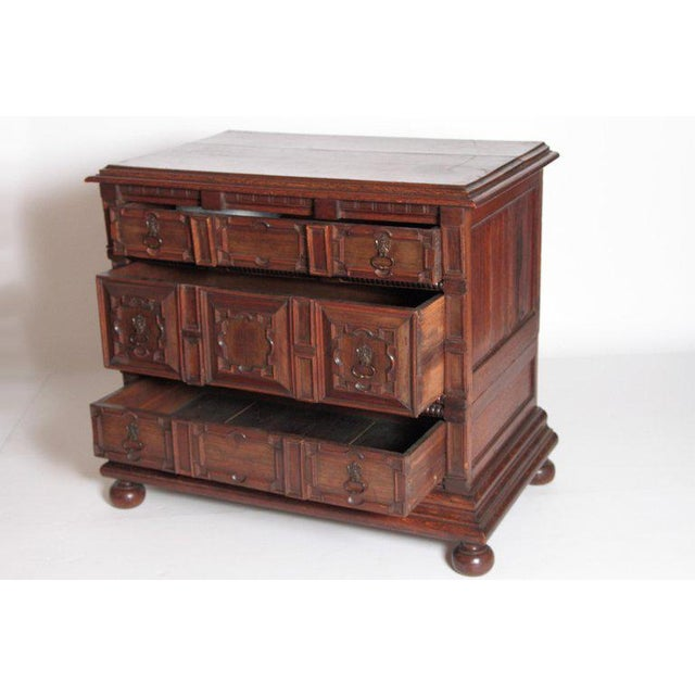 A Late 19th Century Oak Jacobean Style Chest For Sale - Image 9 of 13