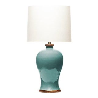 Lawrence & Scott Dashiell Table Lamp in Aquamarine For Sale