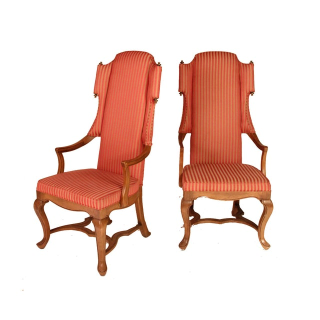Sultanchic brings you pieces with personality. This pair of English highback wingchairs designed by Jim Peed for Drexel...
